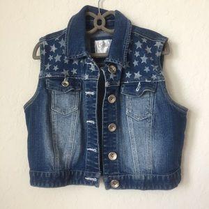 Justice Denim Girls Vest Jacket